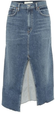 Citizens of Humanity Aubrey stretch-denim midi skirt