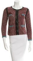 Rag & Bone Knit Leather Trimmed Jacket
