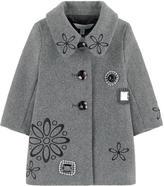 Little Marc Jacobs Mini Me woollen cloth coat with cabochons