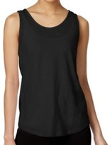 Michael Kors Black Women's Size Medium M Tank Knotted-Back Top