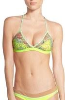 Maaji Women's 'Matisse Landscape' Reversible Macrame Back Bikini Top