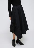 Yohji Yamamoto Black Lace Up Circular Skirt