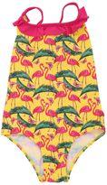 MC2 Saint Barth Flamingo Print Lycra One Piece Swimsuit