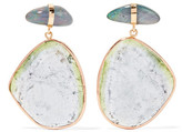 Melissa Joy Manning 14-karat Rose And Yellow Gold, Opal And Tourmaline Earrings