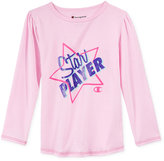 Champion Graphic-Print Long-Sleeve T-Shirt, Toddler & Little Girls (2T-6X)