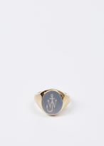 J.W.Anderson yellow gold logo signet ring small