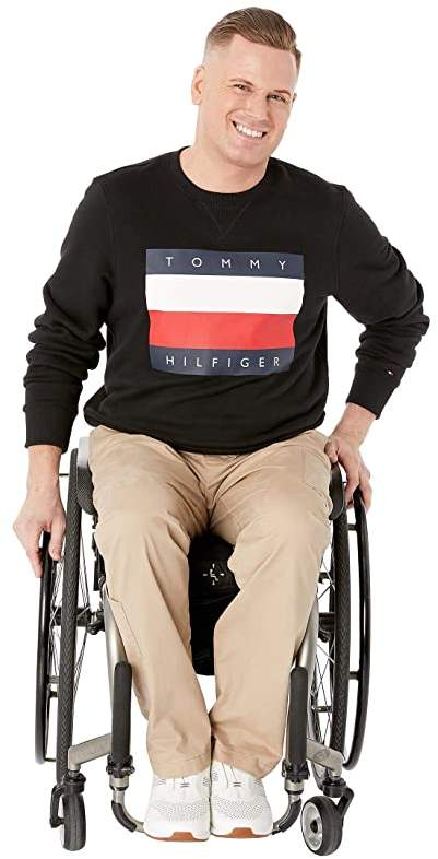 Tommy Hilfiger Mens Adaptive Seated Fit Polo Shirt with Adjustable Closure