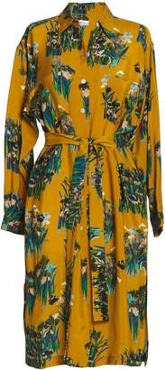 AILANTO Mustard Lilies Shirt Dress
