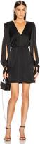 HANEY Joplin V Neck Dress in Black | FWRD