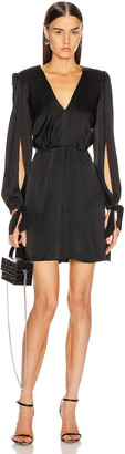 HANEY Joplin V Neck Dress in Black | FWRD