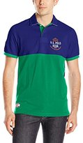 U.S. Polo Assn. Men's Color-Blocked Embellished Pique Polo Shirt