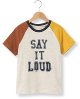 La Redoute Collections Three-Colour Slogan T-Shirt, 3-12 Years