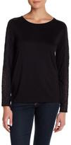 Joe Fresh Lace Trim Long Sleeve Shirt