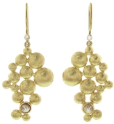 Todd Reed Gold Bubble Drop Earrings with Diamonds