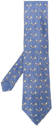 Hermes 2000's Pre-Owned Chicken Pattern Tie