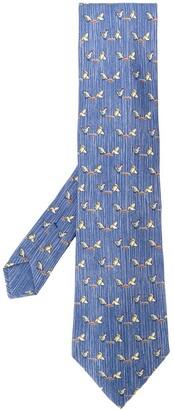 Hermes Pre-Owned 2000's chicken pattern tie