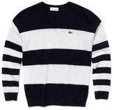 Lacoste Girl's Bold Stripe Crewneck Sweater