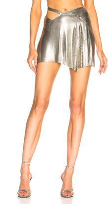 Fannie Schiavoni Mesh Skirt in Silver | FWRD