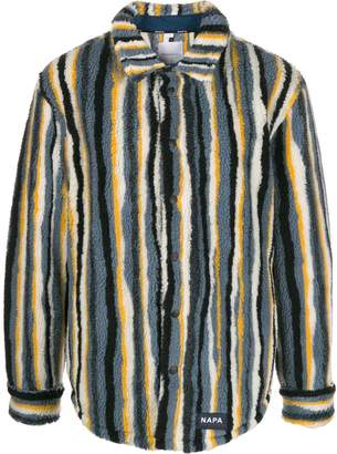 Martine Rose Napa By striped faux shearling shirt jacket