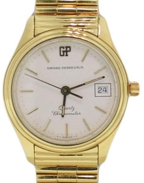 Girard Perregaux Girard-Perregaux Quartz Solid 18k Yellow Gold & Band Chronometer Date 26mm Watch
