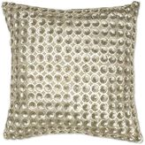 Aura Polu Dupioni Beaded 20-Inch Square Throw Pillow in Gold