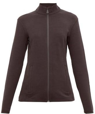 Aztech Mountain Bonnies Rubberised-logo Zip-through Sweater - Womens - Black