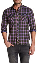 X-Ray Faded Plaid Patch Pocket Shirt