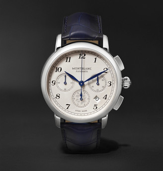 Montblanc Star Legacy Automatic Chronograph 42mm Stainless Steel And Alligator Watch
