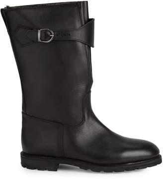 Paul Stuart Calf Hair-Lined Leather Tall Boots