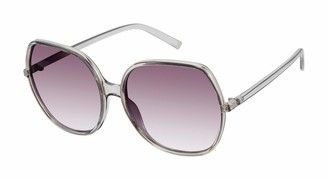 Tahari Women's TH739 Translucent Hexagon-Shaped Sunglasses with 100% UV Protection 64 mm
