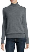 Neiman Marcus Classic Long-Sleeve Cashmere Turtleneck, Plus Size