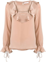 See by Chloe frill embroidered blouse