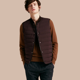Burberry Lambskin Trim Down-filled Gilet