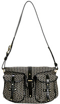 A Pea in the Pod Reese Messenger Bag in Black Bean by Mia Bossi
