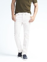 Banana Republic Slim Stay White Jean