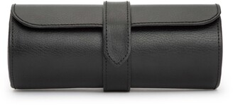 Wolf Black Leather Watch Roll