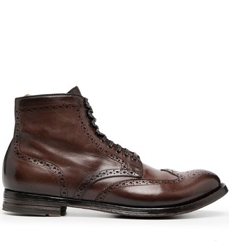 Officine Creative Ankle Lace-Up Boots