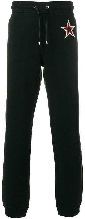 Givenchy star patch track pants
