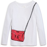 Kate Spade Girls' Trompe l'Oeil Bag Tee - Sizes 7-14