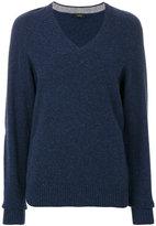 Joseph textured v-neck sweater