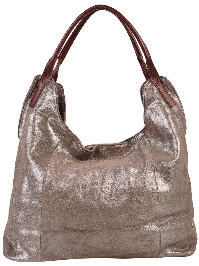 Sondra Roberts Leather Shimmer Tote