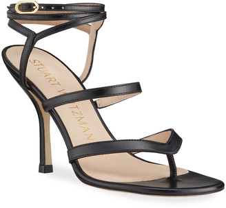 Stuart Weitzman Julina Strappy Stiletto Thong Sandals