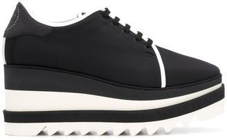 Stella McCartney Lace-Up Wedge Shoes