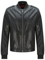 HUGO BOSS Lambskin Leather Jacket Lessko S Black