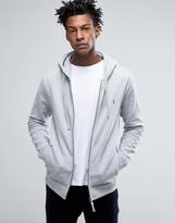 AllSaints Zip Hoodie with Chest Branding