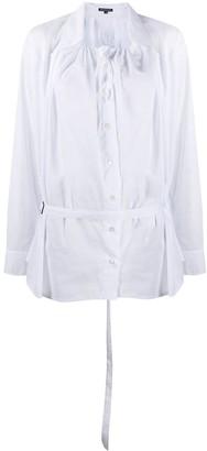 Ann Demeulemeester Elasticated Neckline Cotton Shirt