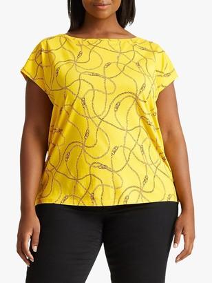 Ralph Lauren Ralph Curve Grieta Short Sleeve Top, Dandelion Yellow