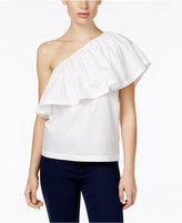 Trina Turk Mayreau Ruffled One-Shoulder Top