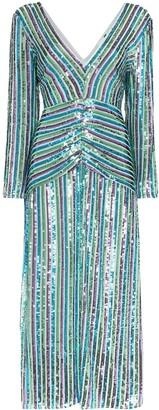 Rixo Emmy sequinned midi dress