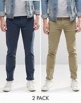 Asos 2 Pack Skinny Jeans